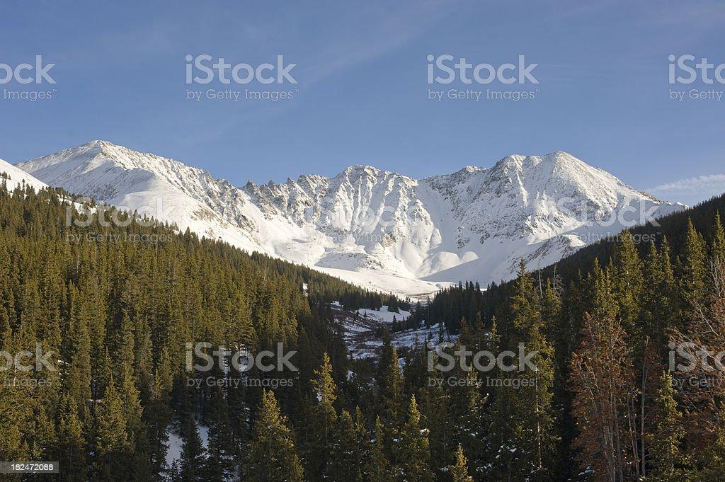 Mayflower Gulch in Snow stock photo