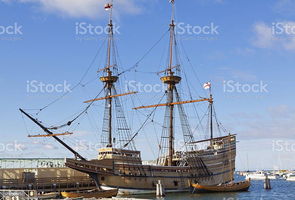Mayflower II, Plymouth, Ma royalty-free stock photo