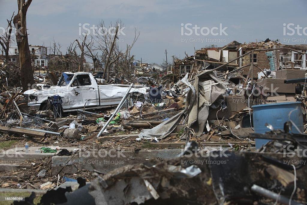 Mayhem after a Tornado stock photo