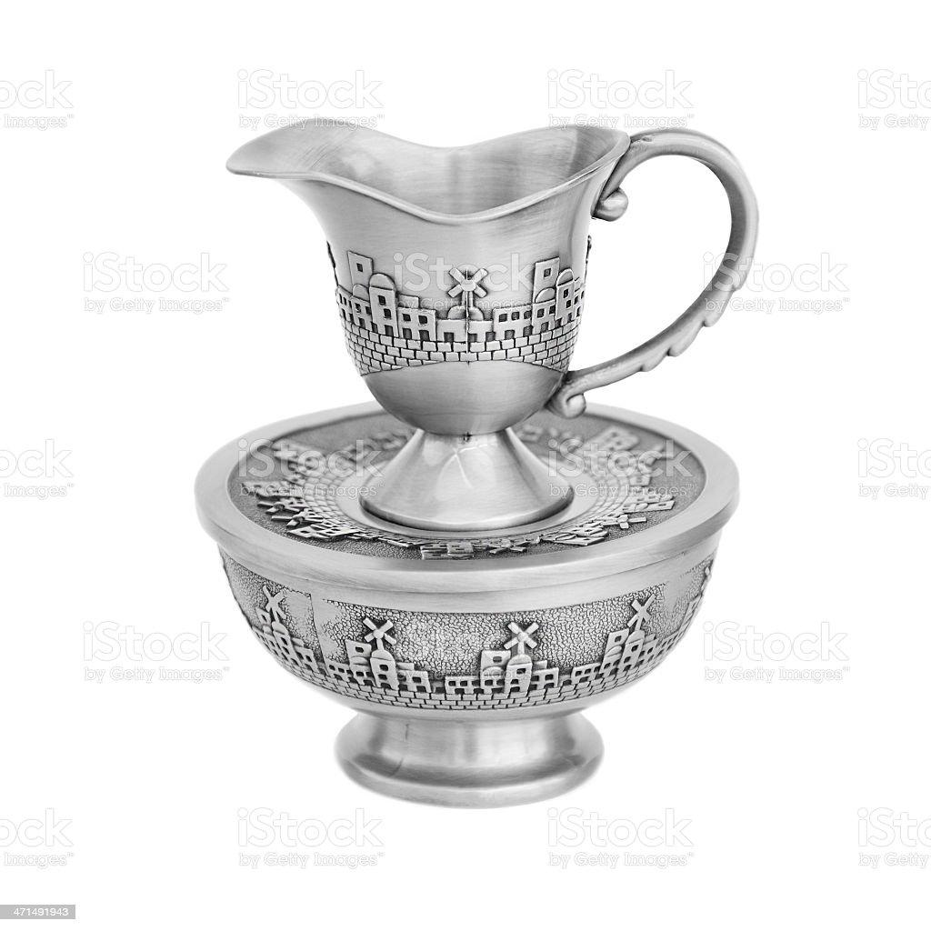 Mayim Achronim Final water washing cup royalty-free stock photo