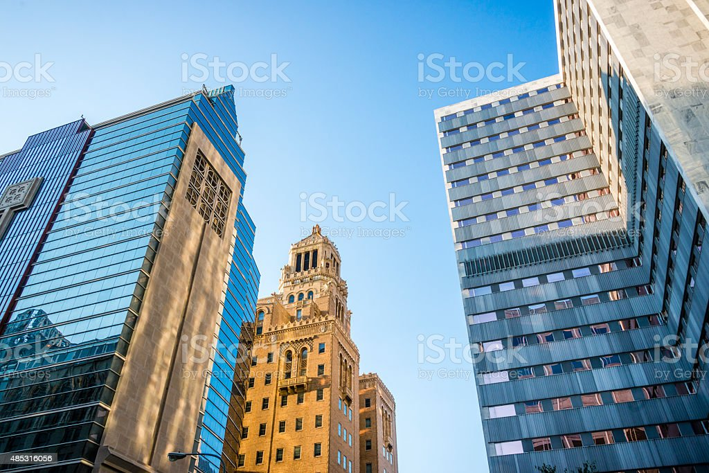 XXXL: Mayo Clinic buildings in dowtown Rochester, MN stock photo