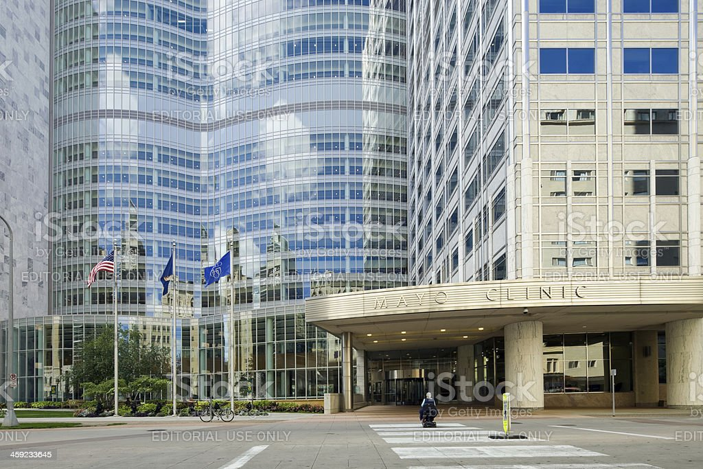Mayo Clinic Gonda Building East Entrance stock photo