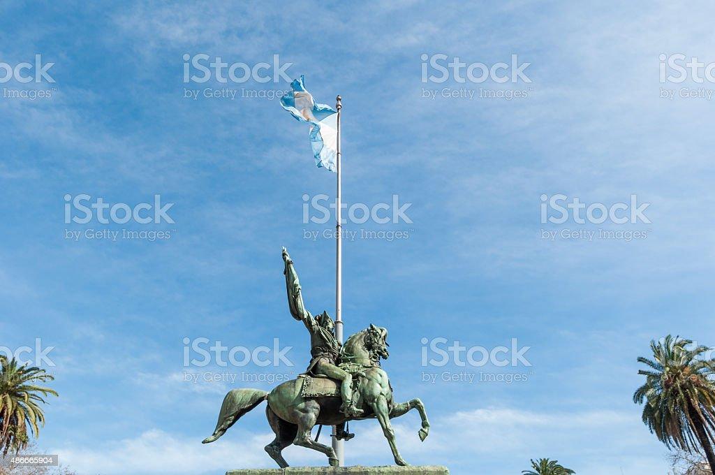 Mayo square Buenos Aires, Agentina city stock photo