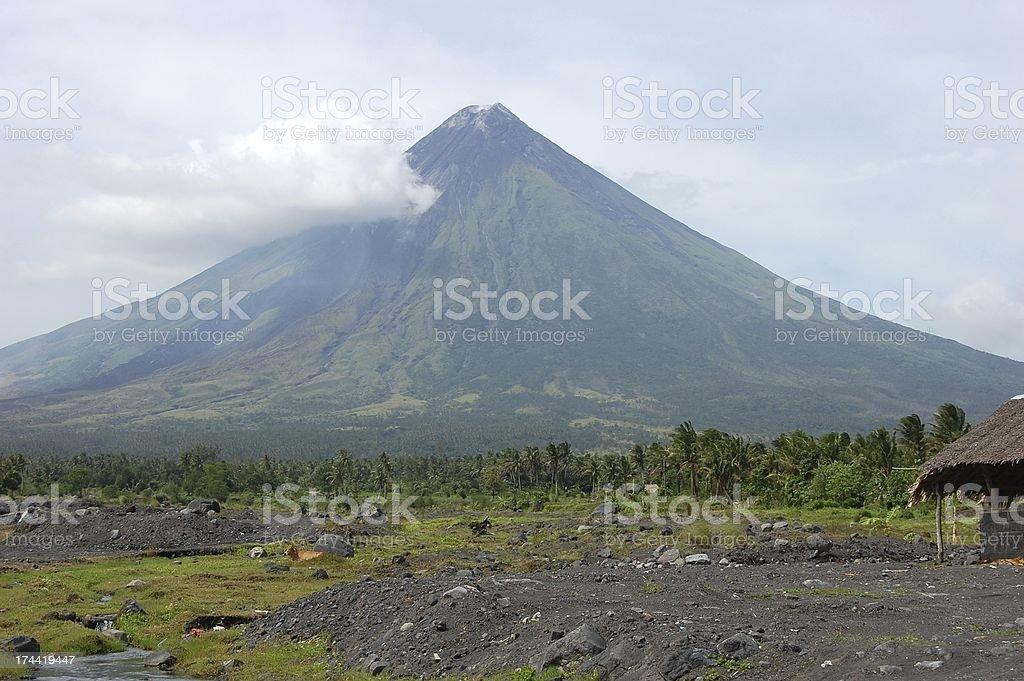 Mayon volcano perfect cone, Albay Philippines stock photo