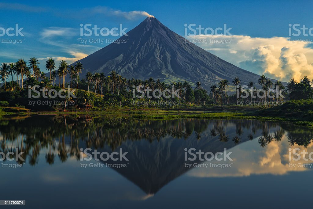 Mayon Volcano stock photo