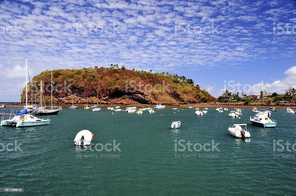 Mayotte: Pointe Mahabou and the bay stock photo