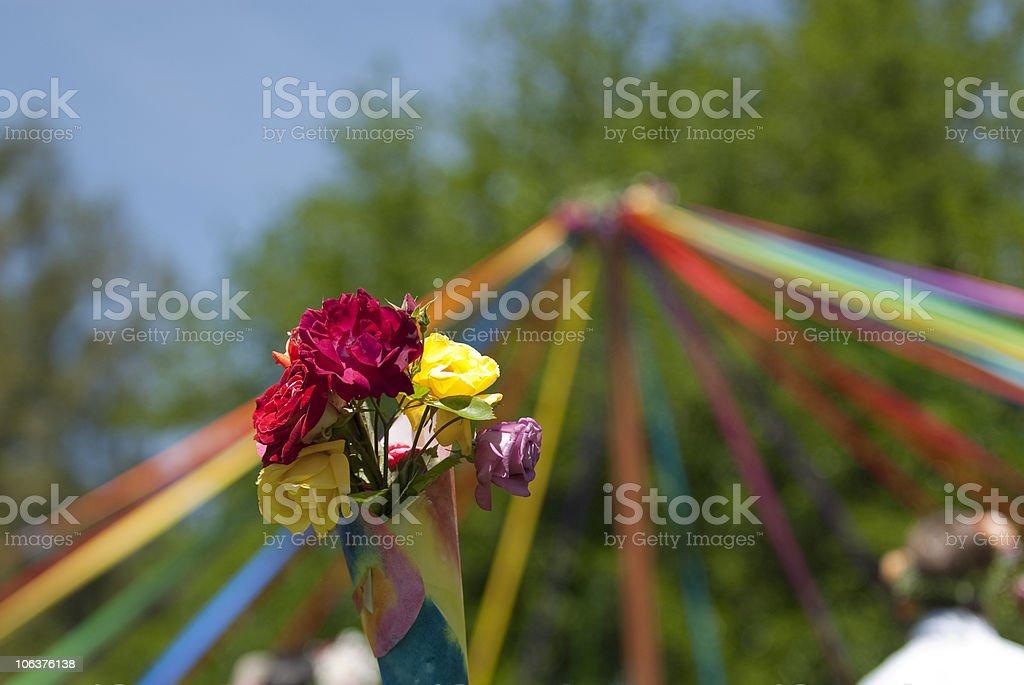 Maypole Flowers stock photo