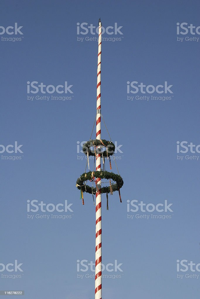 Maibaum in Bavaria royalty-free stock photo