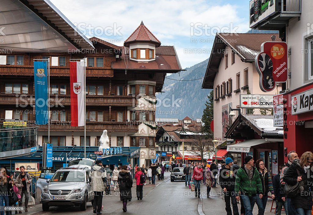 Mayrhofen during the Christmas holidays stock photo