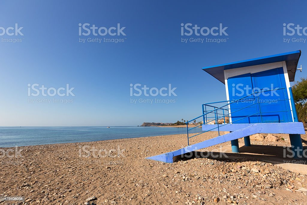 Mazarron beach in Murcia Spain at Mediterranean stock photo