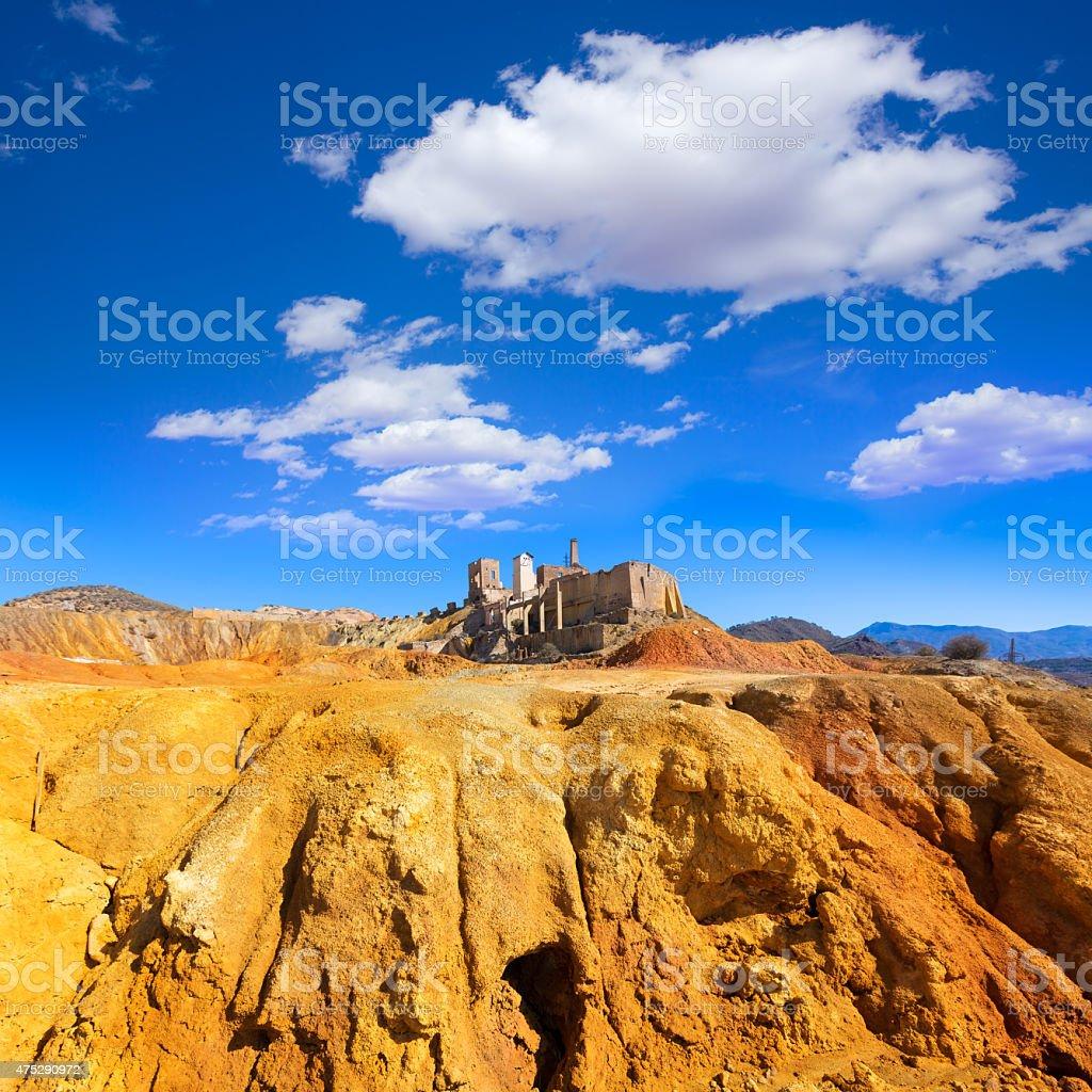 Mazarron Murcia old mine in Spain stock photo