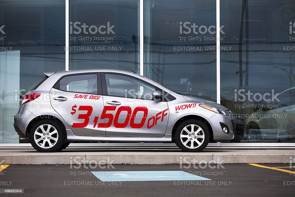Mazda 2 royalty-free stock photo