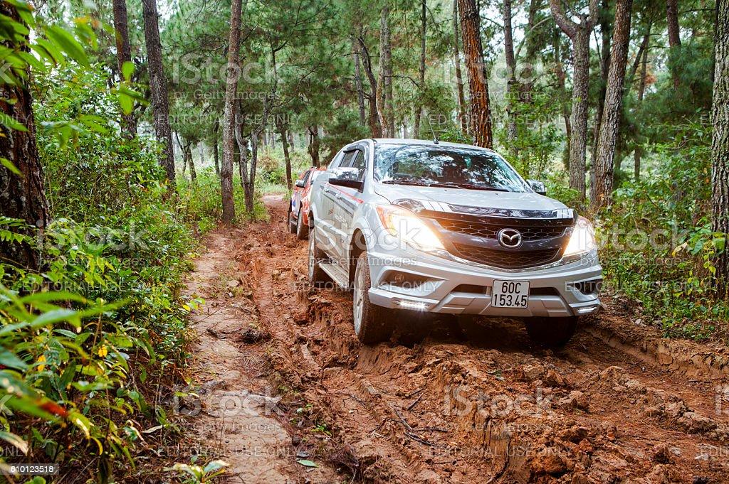Mazda BT-50 pick-up car stock photo