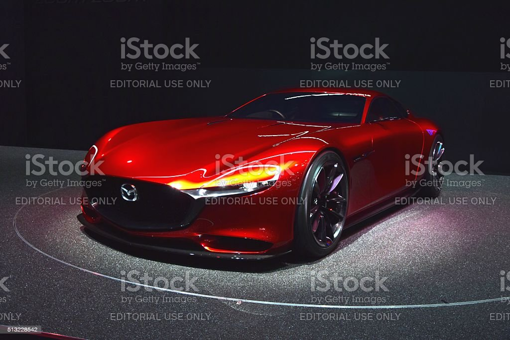 Mazda RX-Vision with a rotary engine stock photo