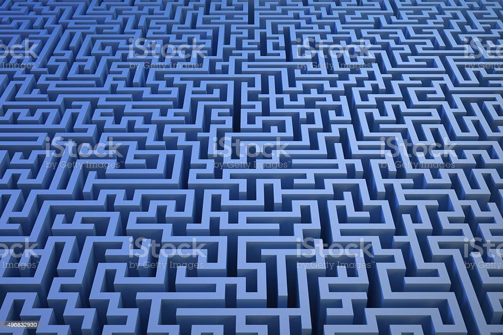 3D maze background stock photo