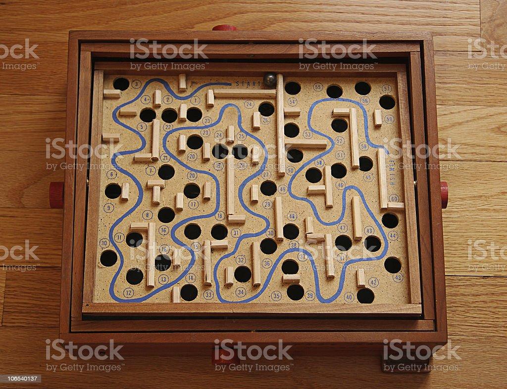 Maze Game royalty-free stock photo