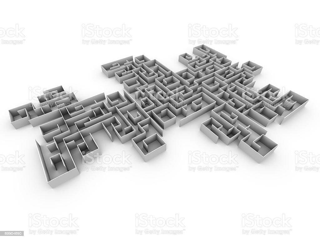 Maze growning royalty-free stock photo