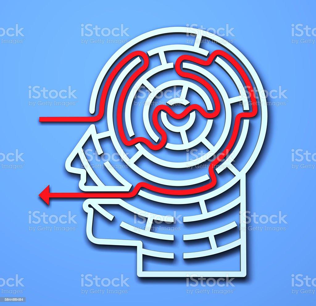 Maze Head stock photo