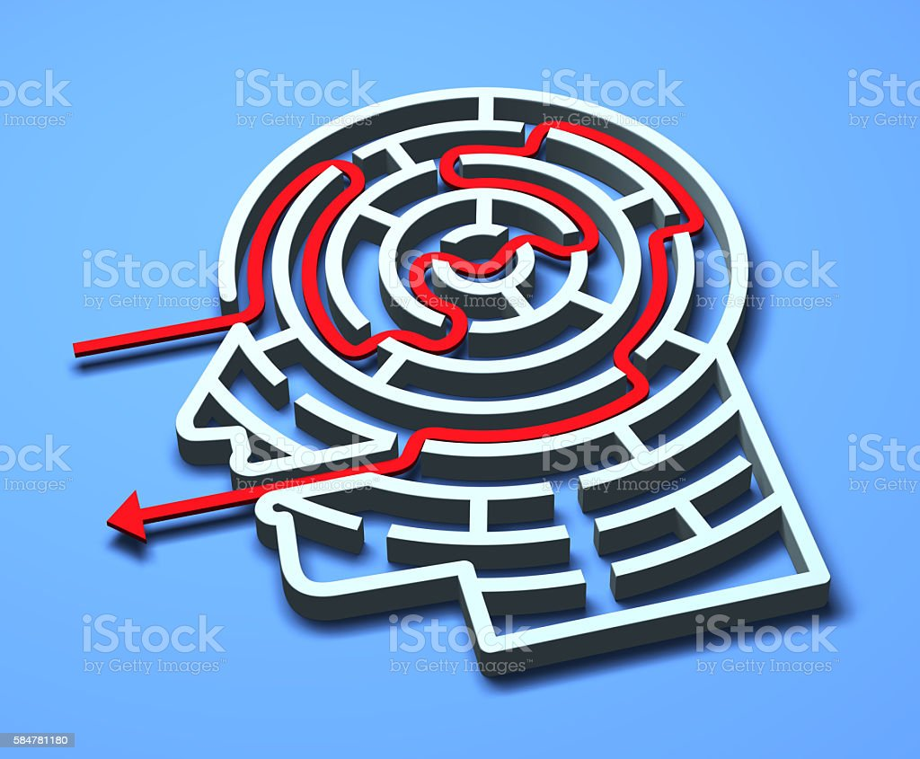 Maze Head stock photo