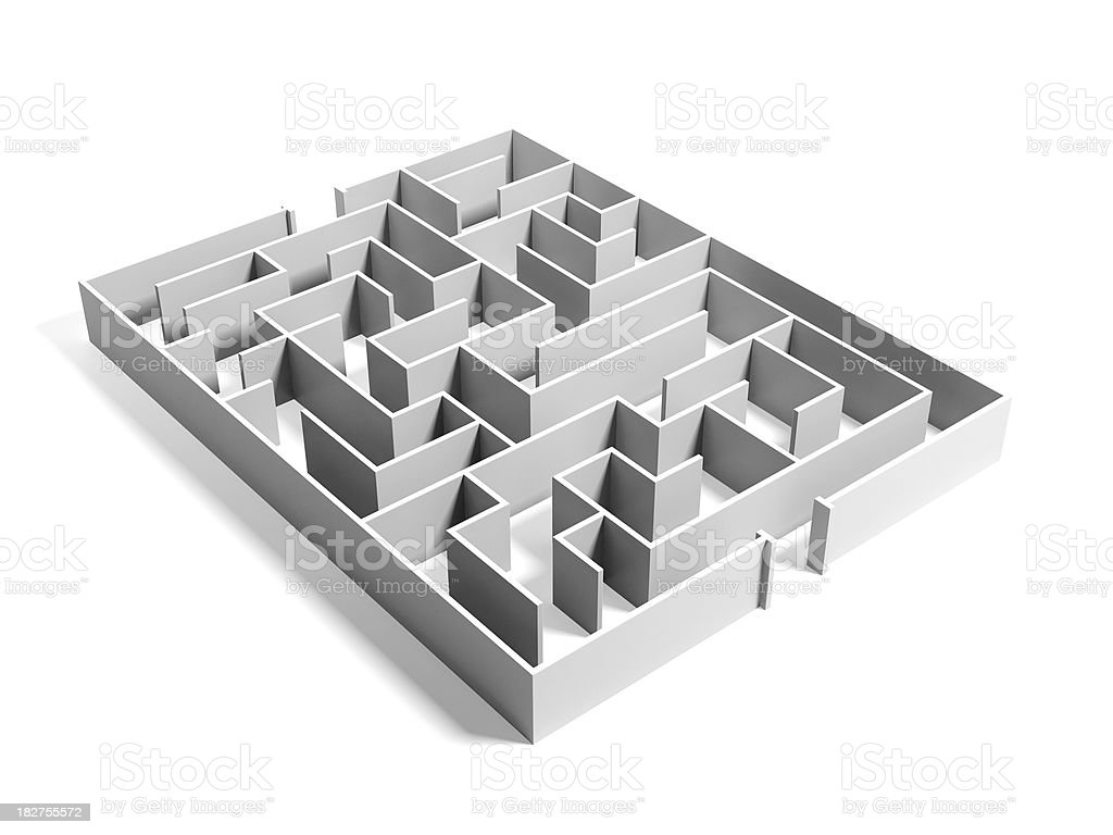 Maze / Labyrinth on white background royalty-free stock photo