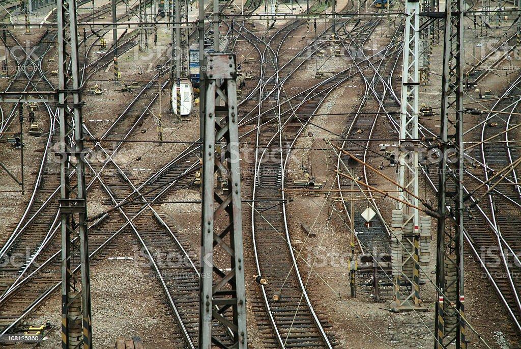 Maze of Railways  in Prague royalty-free stock photo