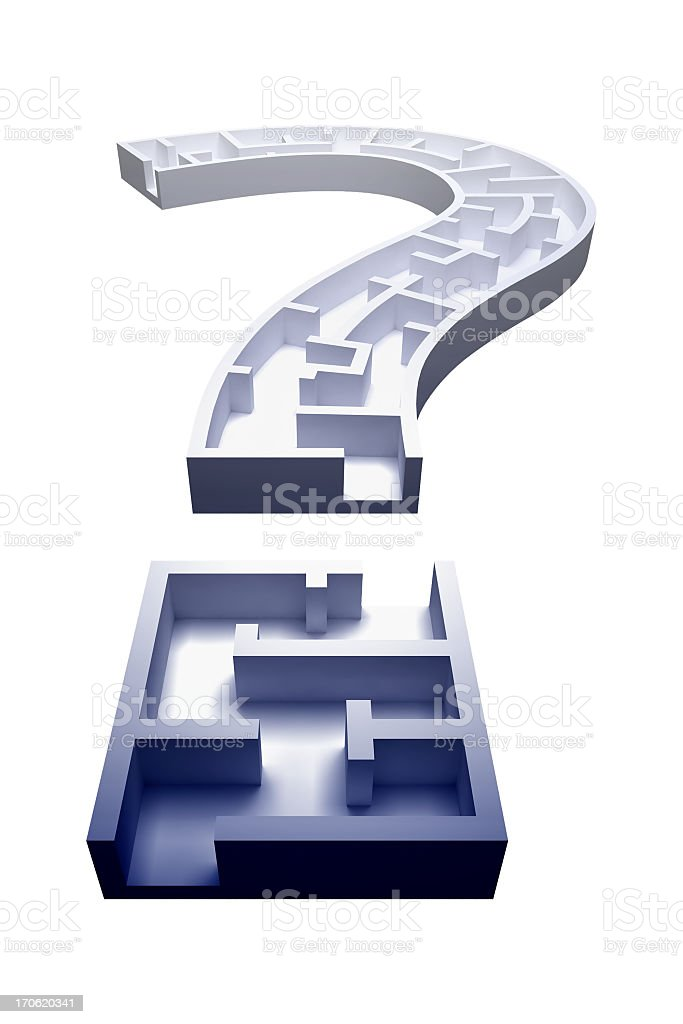 QM Maze (with Clipping Path) stock photo
