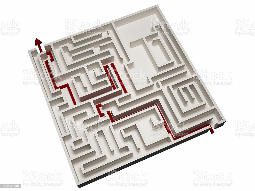 Maze royalty-free stock photo