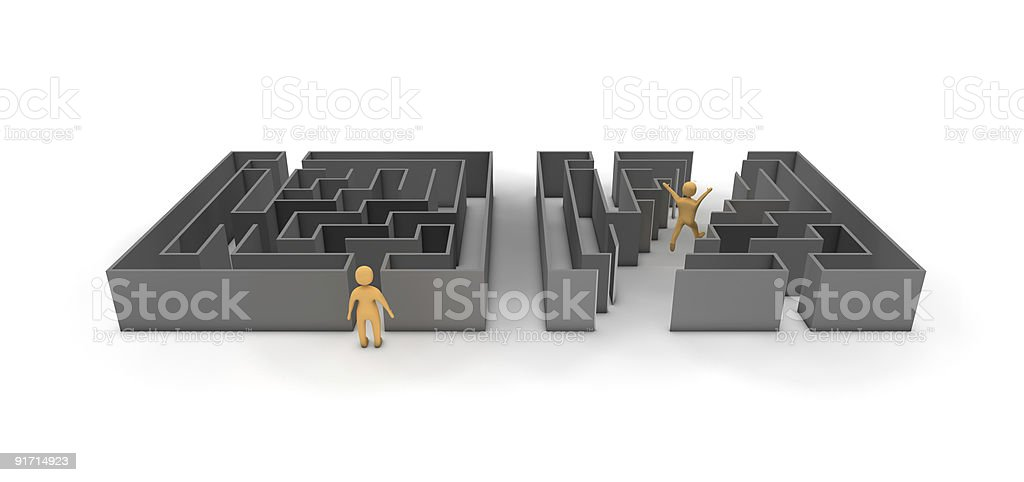 Maze Shortcut (incl. Clipping Path!) royalty-free stock vector art