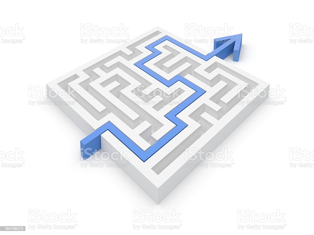 Maze Solution stock photo