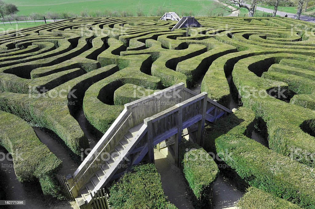 Maze with Bridges stock photo