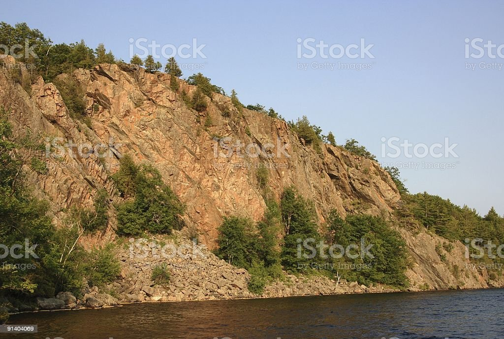 Mazinaw Rock Horizontal royalty-free stock photo