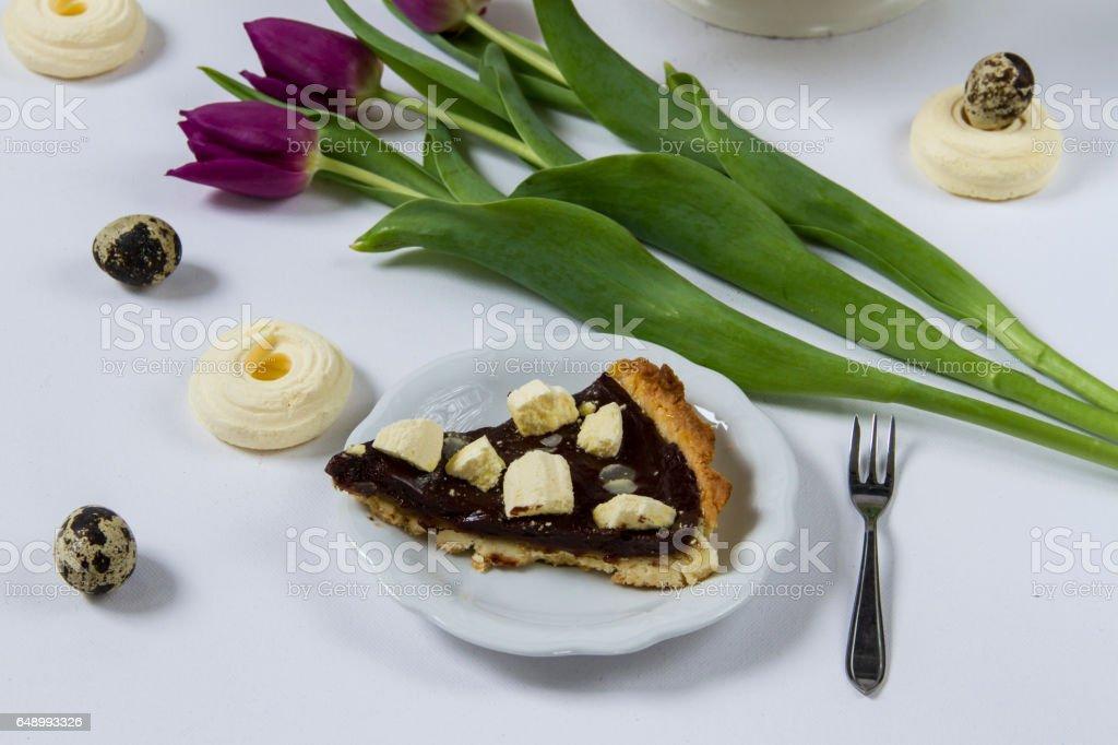 Mazurek- traditional Easter cake from Poland. stock photo