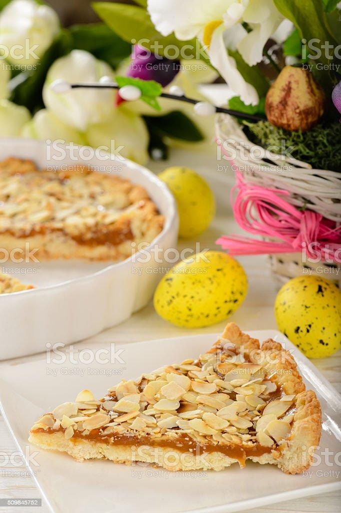 Mazurek -tradittional easter polish pie. stock photo