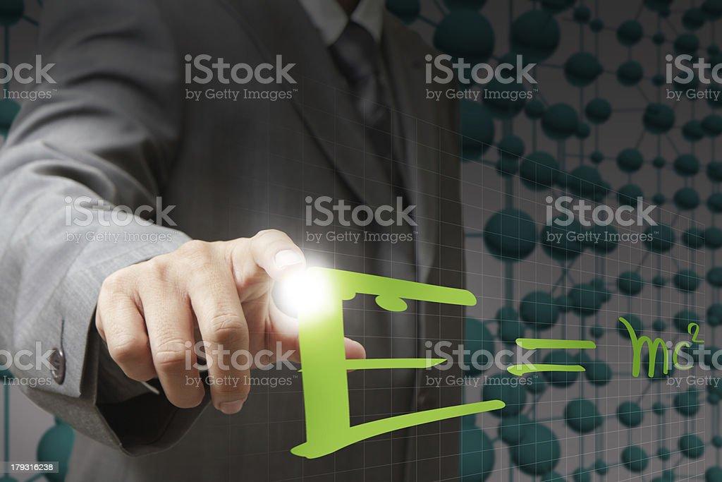 E=mc?'?? Albert Einsteins physical royalty-free stock photo