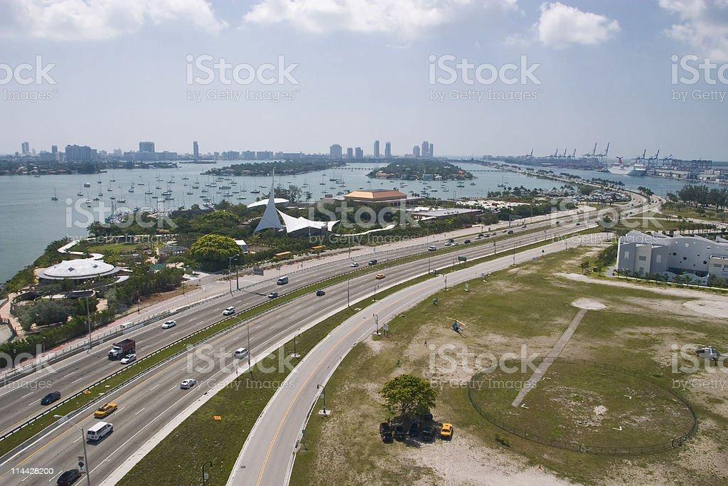 Mc Arthur causeway stock photo