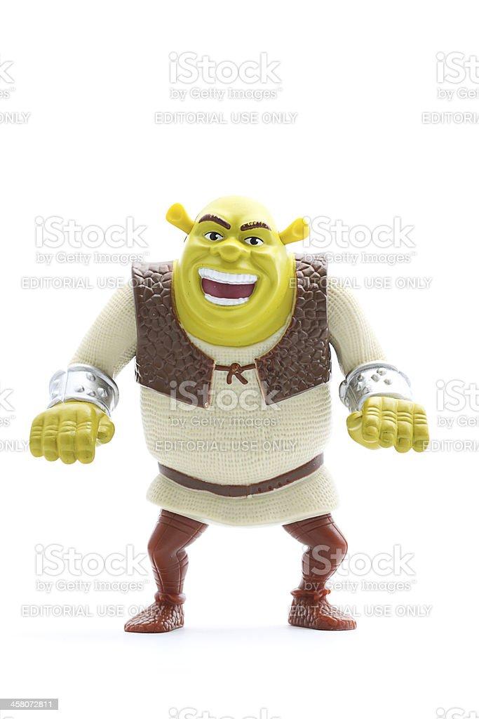 Mc Donald's Shrek figurine stock photo