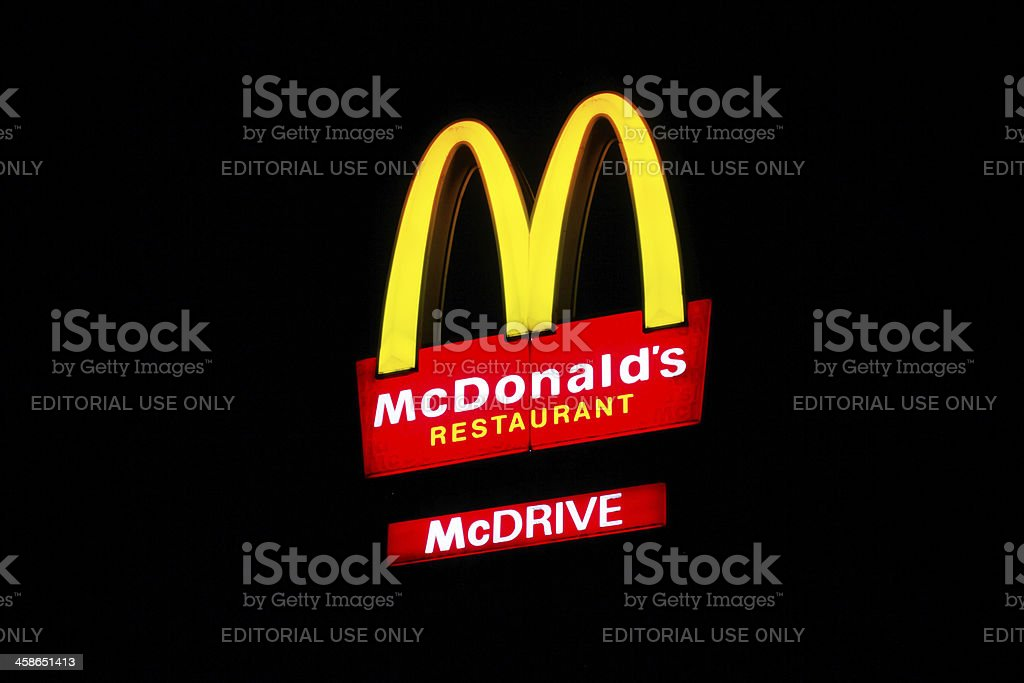 Mc Donalds sign at night royalty-free stock photo