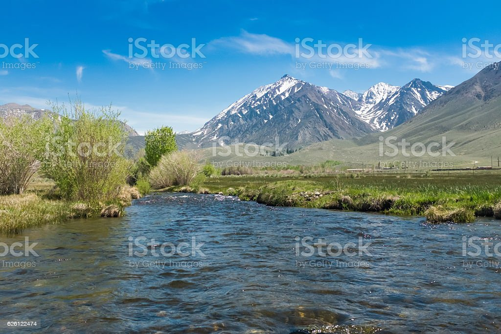 Mc Gee Creek Lake Crowley California stock photo