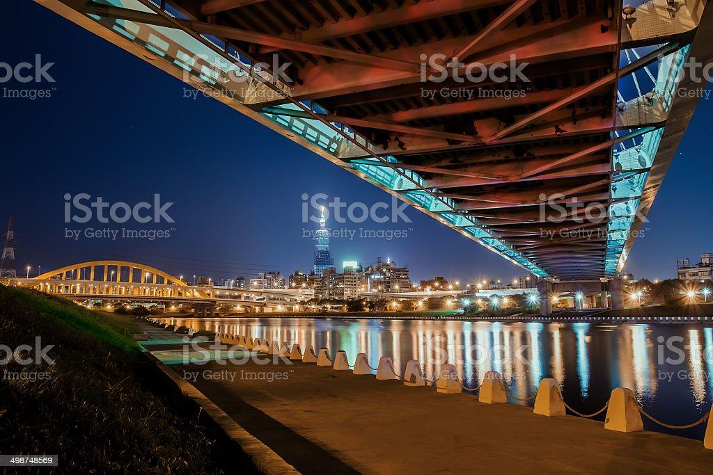 McArthur Bridge in Taipei stock photo