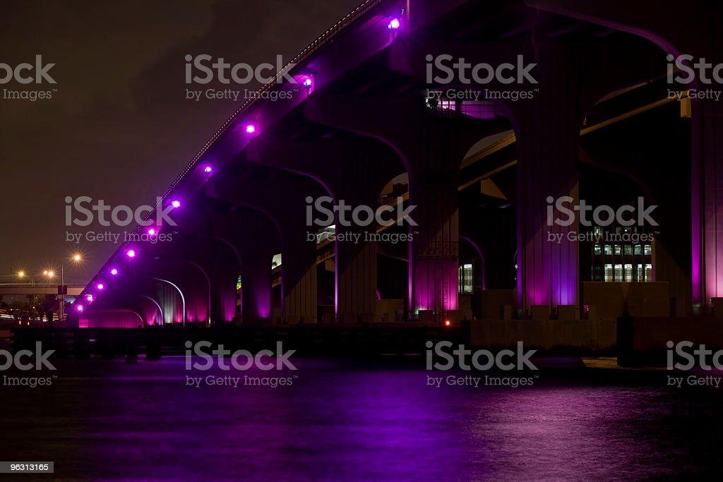 McArthur Bridge Miami (XL) stock photo