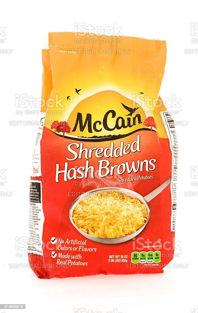 McCain  Hash Browns stock photo
