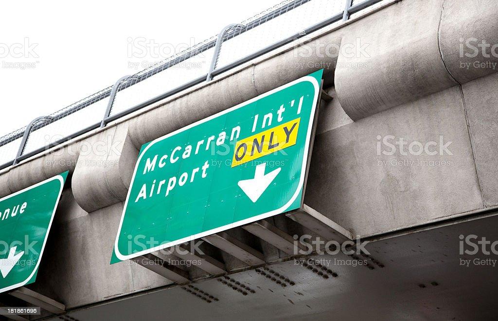 McCarran airport sign stock photo