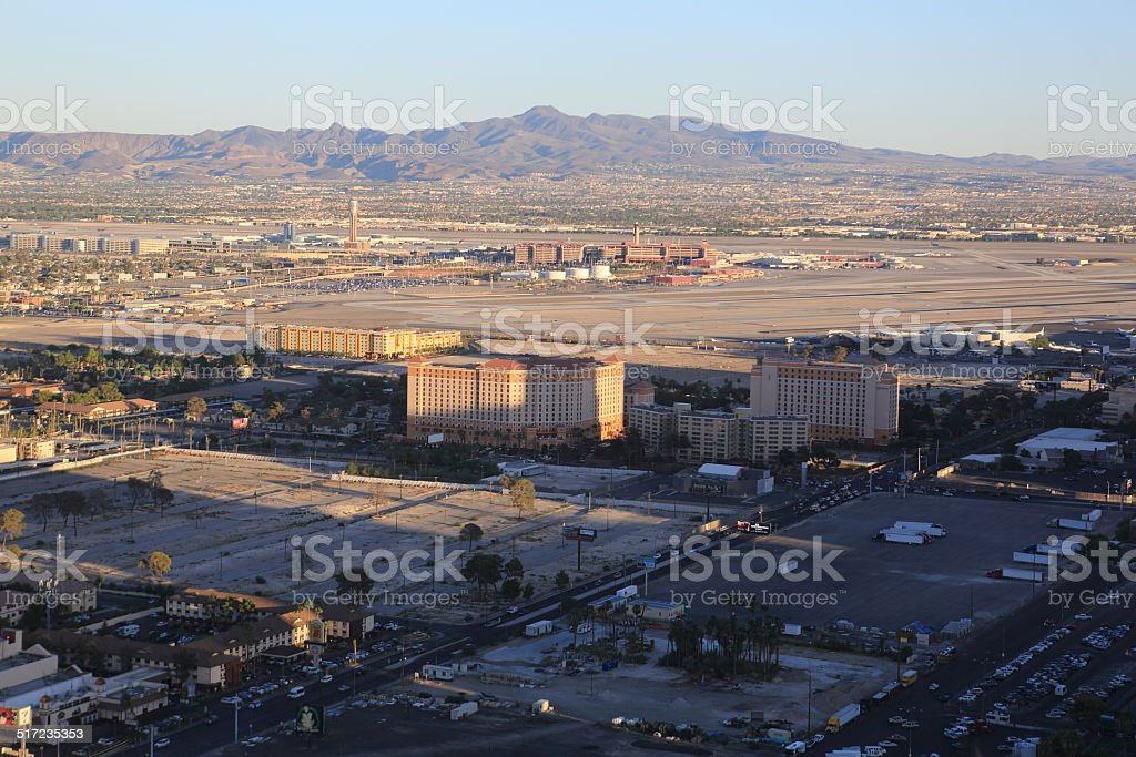McCarran Airport Viewed from High Roller stock photo
