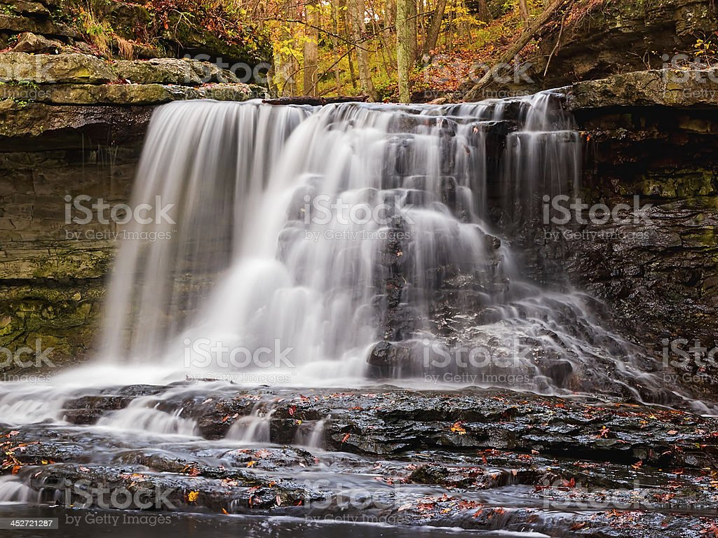 McCormick s Creek Falls in autunno foto stock royalty-free