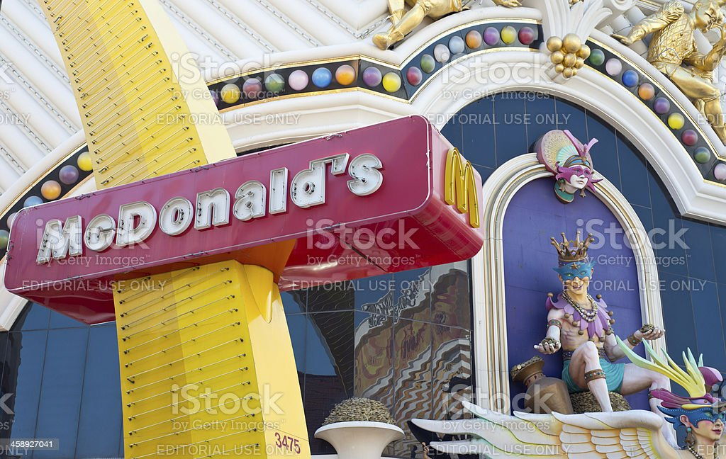 McDonald at Harrahs stock photo