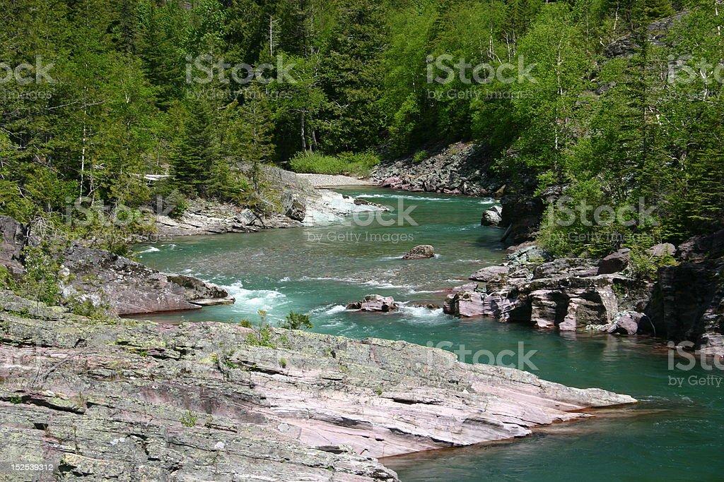 McDonald Creek, Glacier National Park stock photo