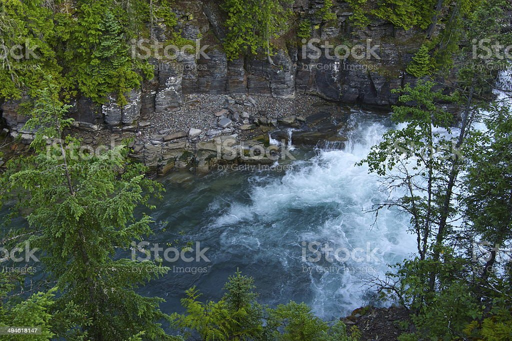 McDonald Creek Green stock photo