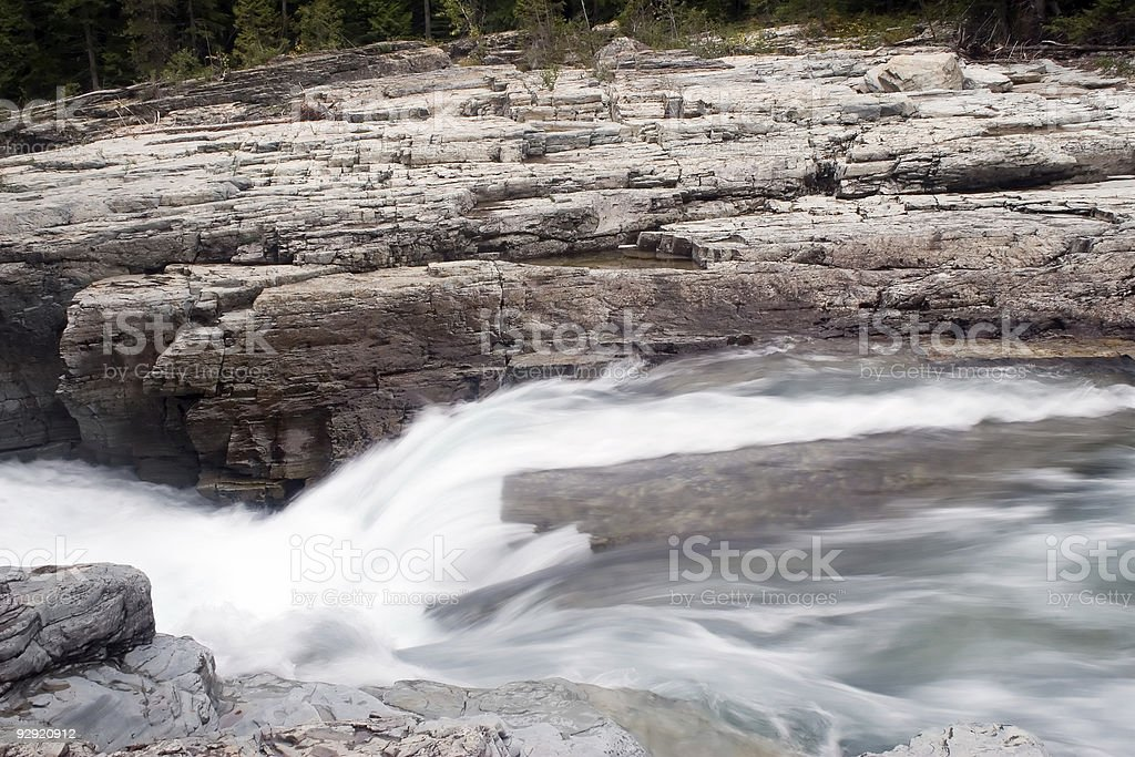 McDonald Creek in Glacier National Park royalty-free stock photo
