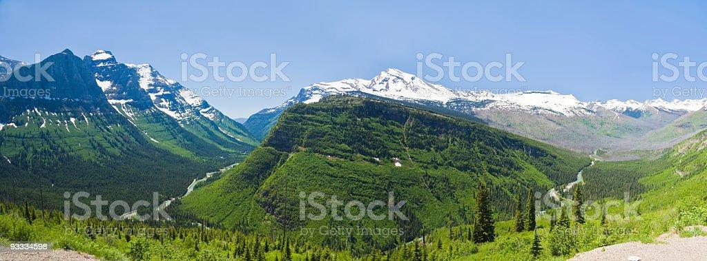 McDonald Creek Panorama royalty-free stock photo
