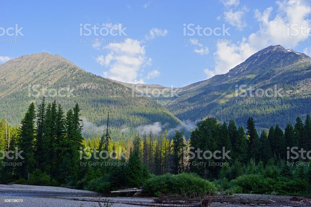 McDonald Creek Peaks stock photo